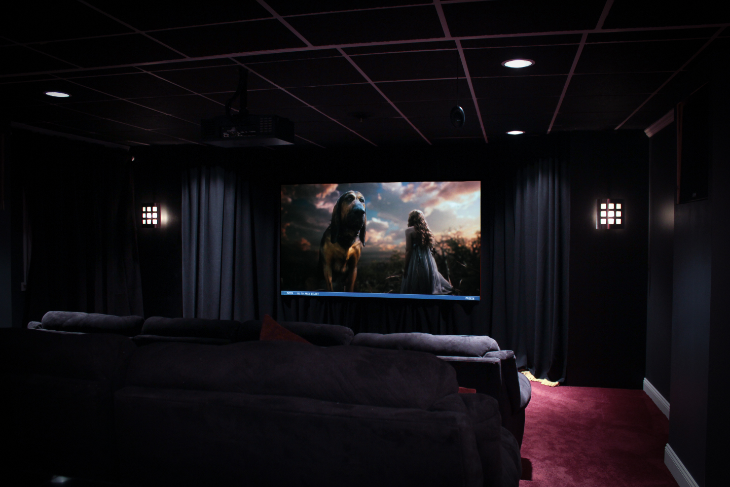 My home theater collins cinema - Home cinema salle dediee ...