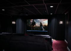 Collins' Cinema in operation w/ lights on (real screen shot on HT photo) click for details.